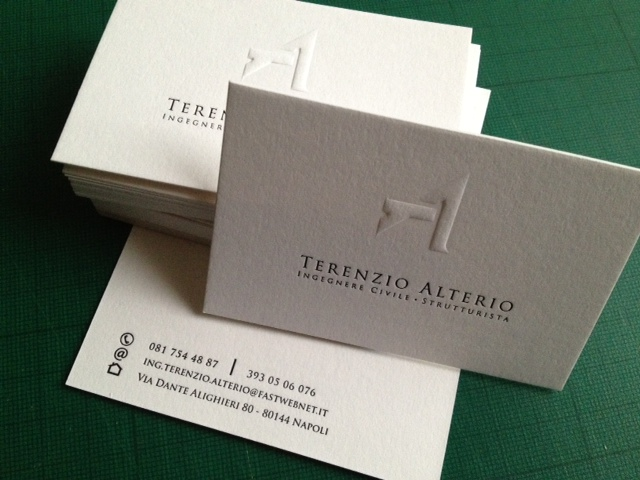 Embossed and Debossed Business Cards